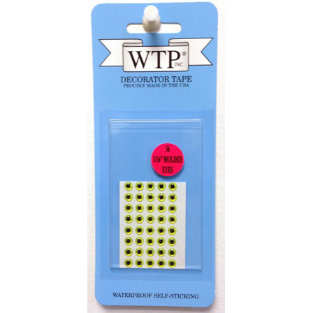 "WTP 3/16"" 3-D SOFT MOLDED EYES (36 PER PACK)"