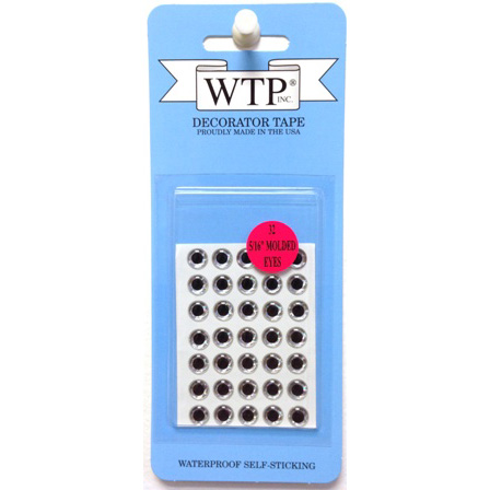 "WTP 5/16"" 3-D SOFT MOLDED EYES (32 PER PACK)"
