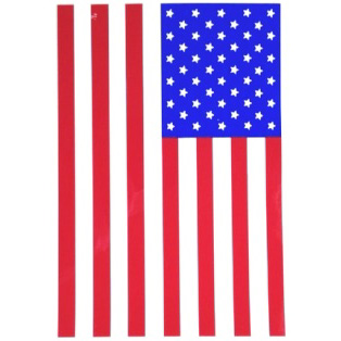 "WTP INC 4"" x 6"" AMERICAN FLAG STICKER (2 PER PACK)"