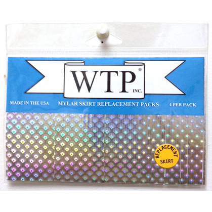 "WTP MYLAR SKIRT REPLACEMENTS 1 1/2"" x 4"" WITH 1/16"" STRANDS (4 SKIRTS PER PACK)"