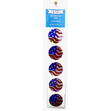 "WTP 1-1/2"" PATRIOTIC STICKER PACKS (6 PER PACK)"